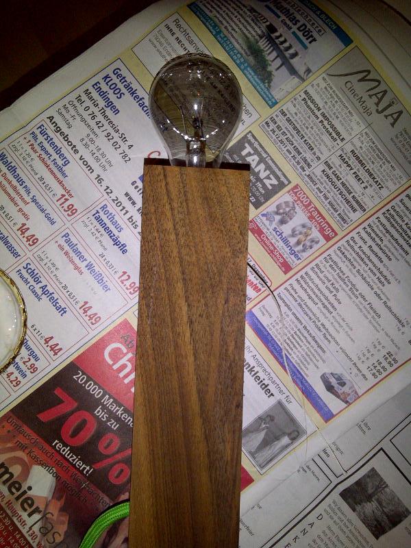 Fertige Lampe nach der Behandlung mit Öl
