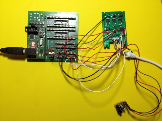 Ikea Dioder Board wired to my flasher