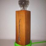 DIY Standlampe aus Nussbaumholz