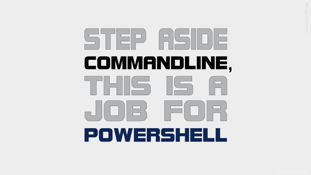 coffee alcohol step aside commandline this is a job for powershell