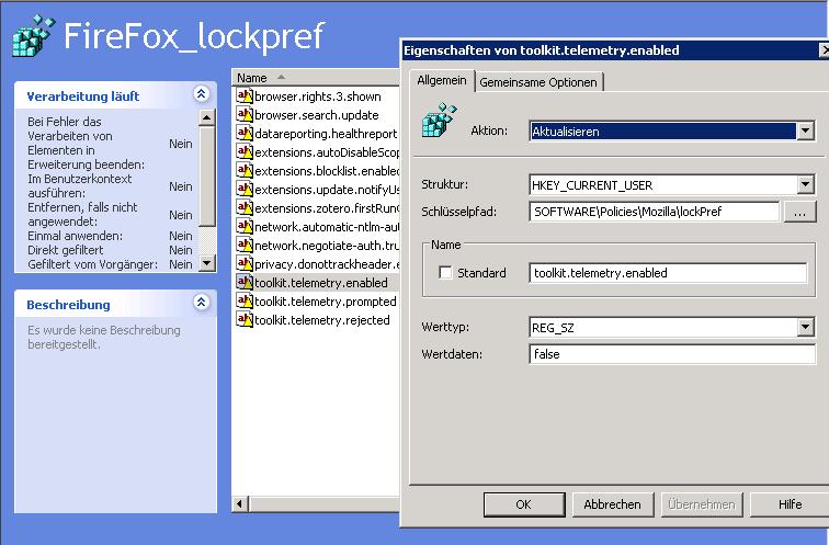 GPO Firefox Registry Settings