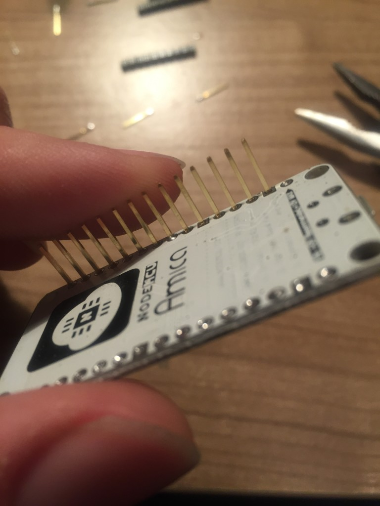 ESP8266 stripped pins
